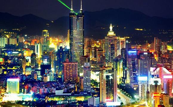 我爱你中国!杭州主题灯光秀
