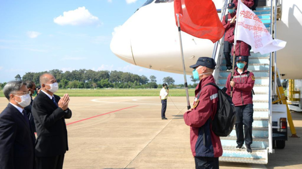 Chinese medical team arrives in Laos to help fight against COVID-19